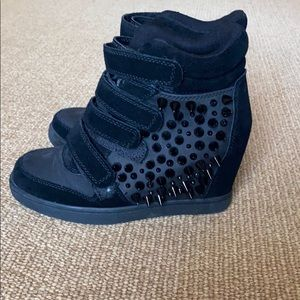 Aldo spiked high-top sneakers